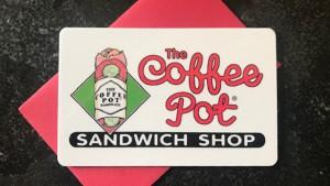 The Coffee Pot Sandwich Gift Certificates